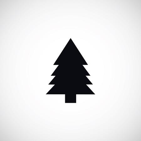 christmass: Christmass tree icon, flat design best vector icon Illustration