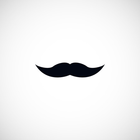 whiskers: whiskers icon, flat design best vector icon