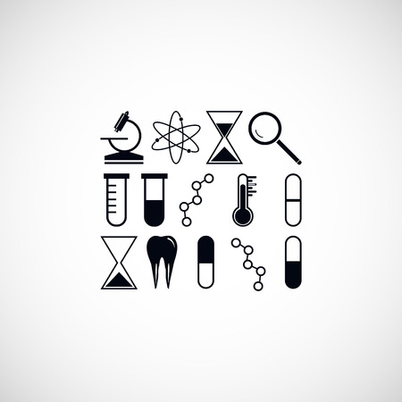 chemically: science icon, flat design best vector icon Illustration