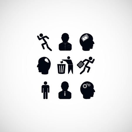 businessman carrying a globe: black working businessman icon, flat design best vector icon