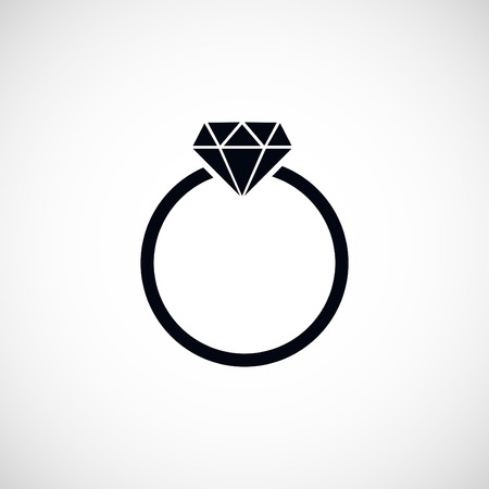 ring icon, flat design best vector icon
