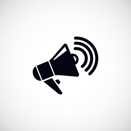 urgent announcement: loudspeaker icon, flat design best vector icon Illustration