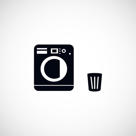 clothes washer: Laundry icons, flat design best vector icon Illustration