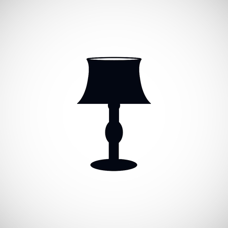 lampshade: table lamp icon, flat design best vector icon