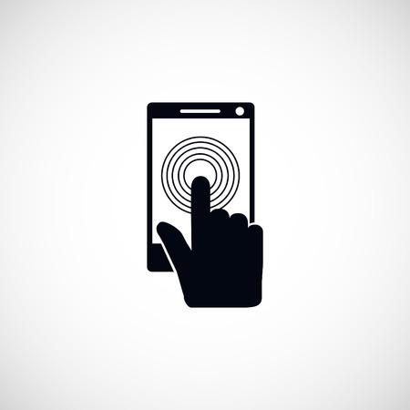 sensory: Smartphone icon, flat design best vector icon