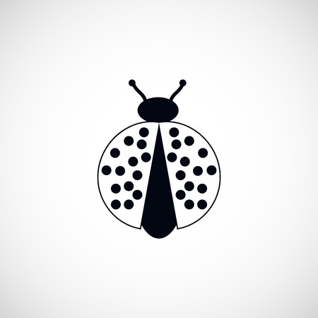 ladybird: ladybird icon, flat design best vector icon Illustration