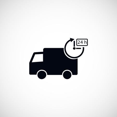 time drive: Delivery Icon, flat design best vector icon
