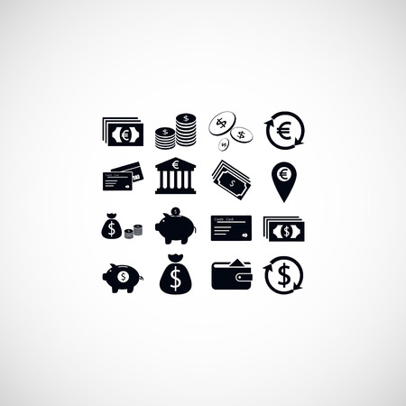 Finance Icons, flat design best vector icon Illustration