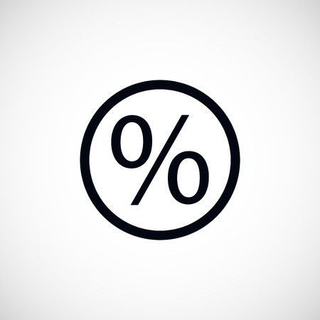 percent icon, flat design best vector icon