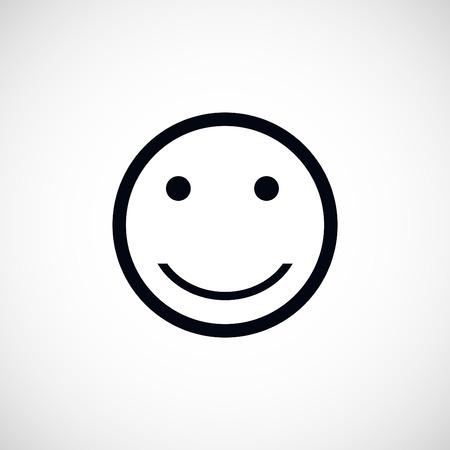 incomprehensible: smiles icon, flat design best vector icon Illustration