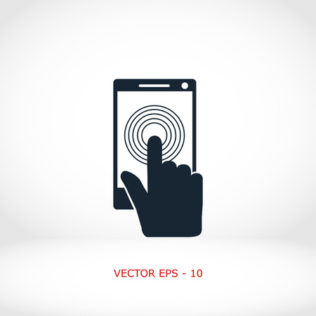 using senses: Smartphone icon vector, flat design best vector icon Illustration