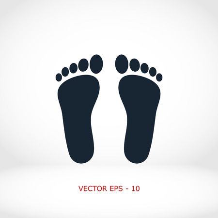 to commit: foot vector icon, flat design best vector icon