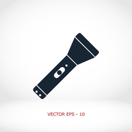 Linterna icono plana, diseño plano el mejor icono del vector