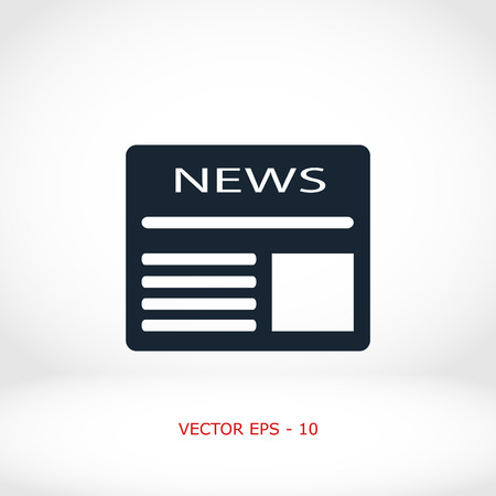 newsprint: Flat icon of news, flat design best vector icon Illustration