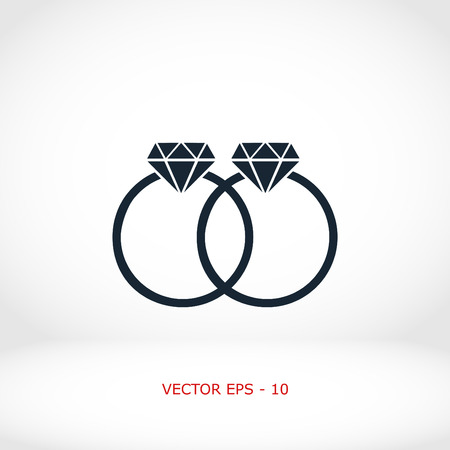 rings vector icon, flat design best vector icon Illustration
