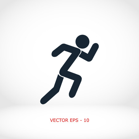 individual sports: Summer sports icon, flat design best vector icon