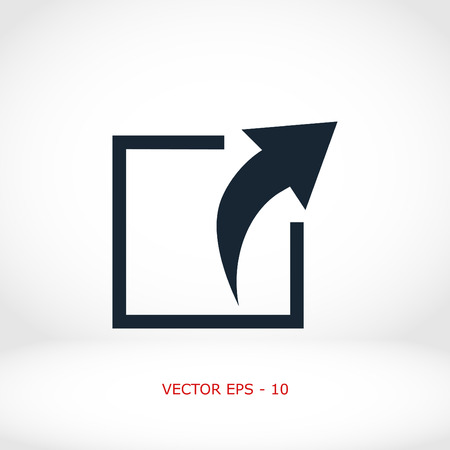 Action sign icon, flat design best vector icon Illustration