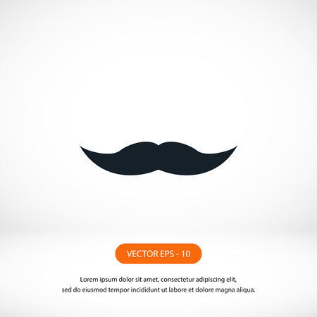 whiskers icon vector, flat design best vector icon