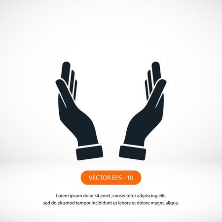 mains icône vecteur, design plat meilleur vecteur icône