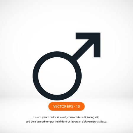 analogy: planet symbol icon, flat design best vector icon Illustration