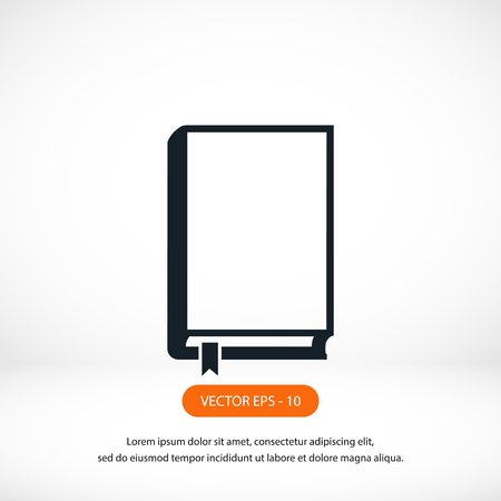 graphic novel: Book icons vector, flat design best vector icon