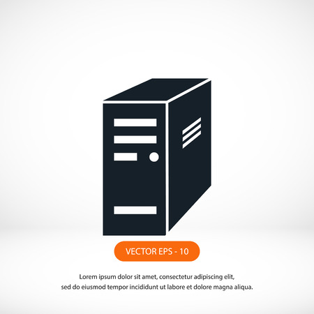 computer server icon, flat design best vector icon