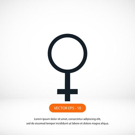 planet symbol vector icon, flat design best vector icon