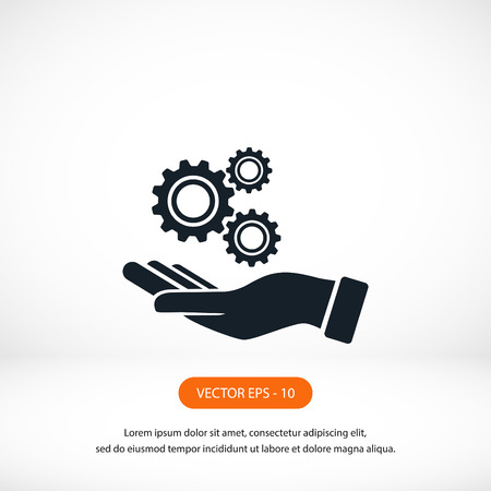 hardware configuration: Installation and support icon, flat design best vector icon
