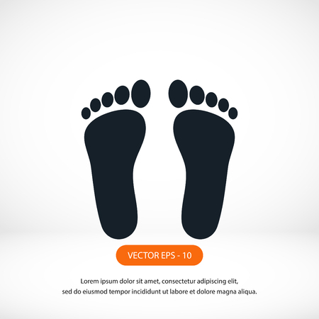 commit: foot vector icon, flat design best vector icon