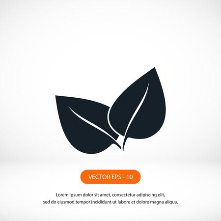 reversed: leaf vector icon, flat design best vector icon