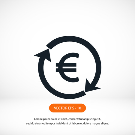 convert: money convert icon, flat design best vector icon