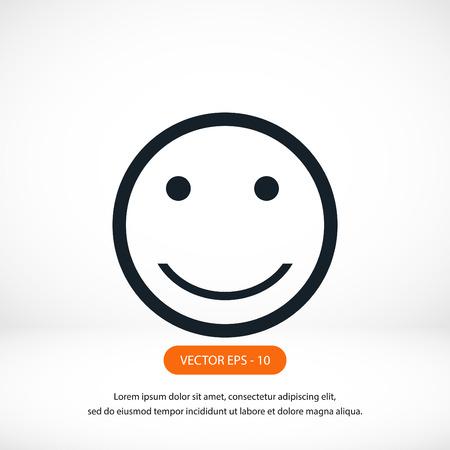 smiles icon vector, flat design best vector icon Illustration