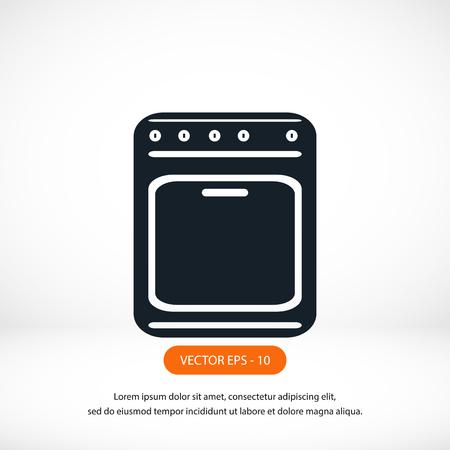 hob: stove icon vector, flat design best vector icon Illustration