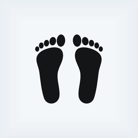 biometrics: foot vector icon, flat design best vector icon