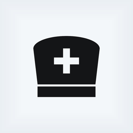 nursing uniforms: Flat Nurse icon, flat design best vector icon
