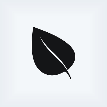 reversed: leaf icon vector, flat design best vector icon Illustration