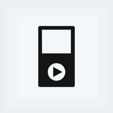 tab: play icon vector, flat design best vector icon