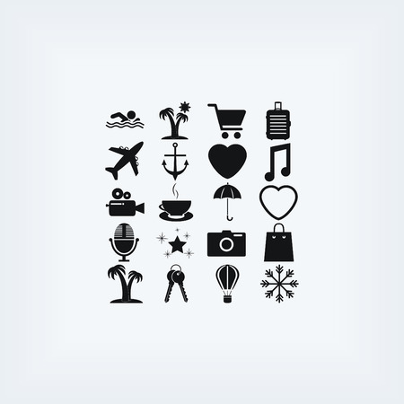 recreation rooms: Travel Icons vector, flat design best vector icon Illustration
