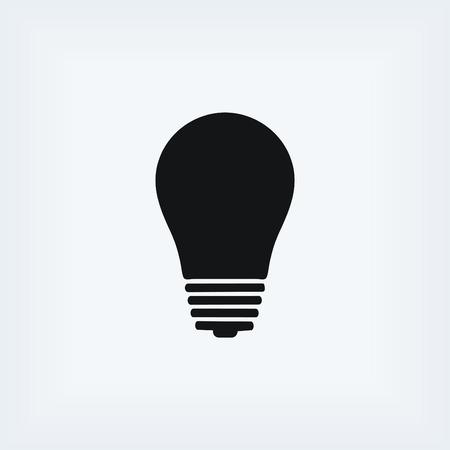 energysaving: Light bulb icon, flat design best vector icon Illustration