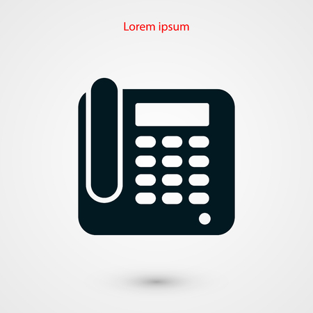 parley: Office Phone Icon, flat design best vector icon