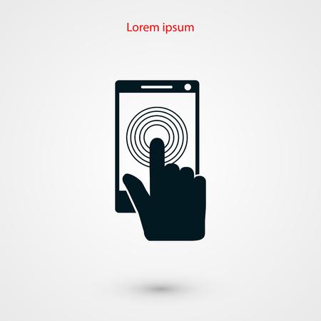 sensory: Smartphone icon vector, flat design best vector icon Illustration