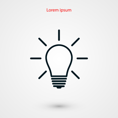 idea icon: Light bulb icon, flat design best vector icon Illustration