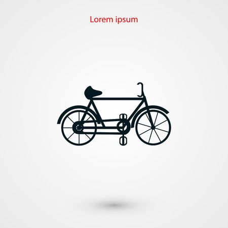 bicycle vector icon, flat design best vector icon Illustration