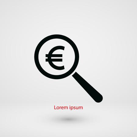 euro money: Search euro money icon, flat design best vector icon Illustration
