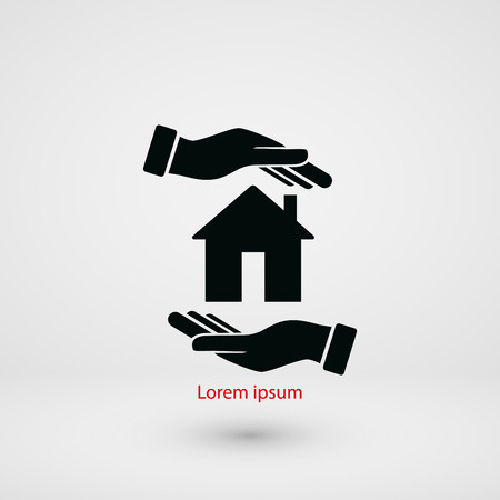 House in hand vector, flat design best vector icon Vettoriali