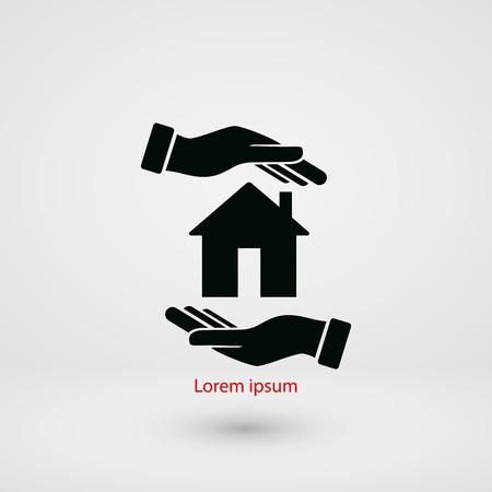 Huis in hand vector, plat ontwerp beste vector icoon