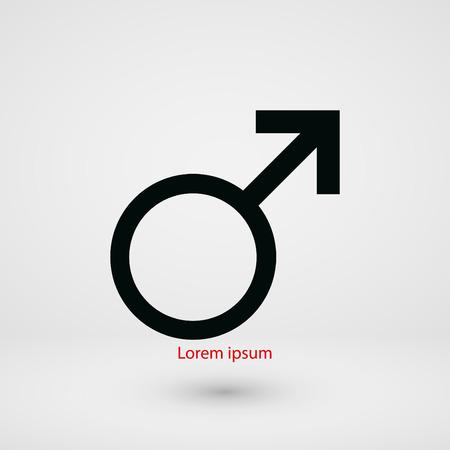 analogy: male symbol icon, flat design best vector icon Illustration