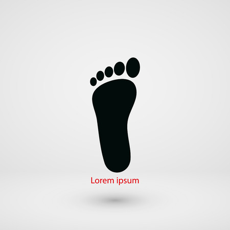 barefoot walking: foot vector icon, flat design best vector icon