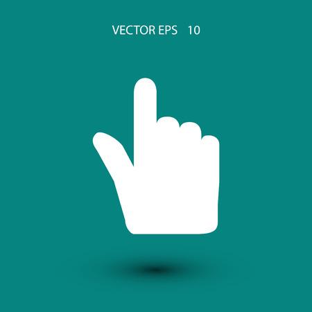 clic: Hand cursor vector icon, flat design best vector icon