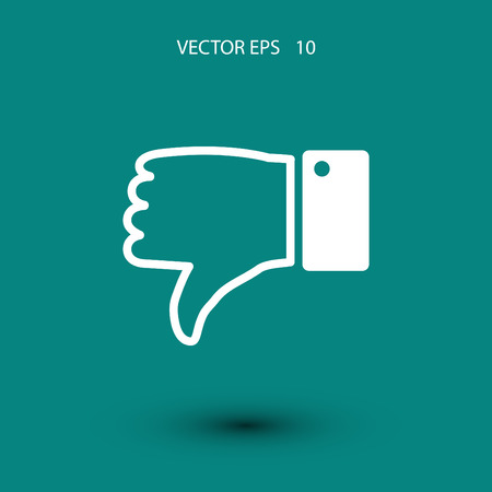 reject: unlike, reject vector icon, flat design best vector icon Illustration